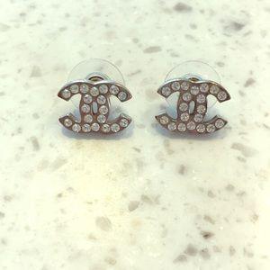 CHANEL Logo Earrings